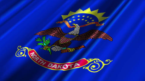 North Dakota Flag Loop 02 Stock Video Footage