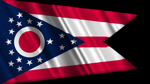 Ohio Flag Loop 01 Stock Video Footage