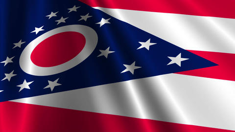 Ohio Flag Loop 03 Stock Video Footage