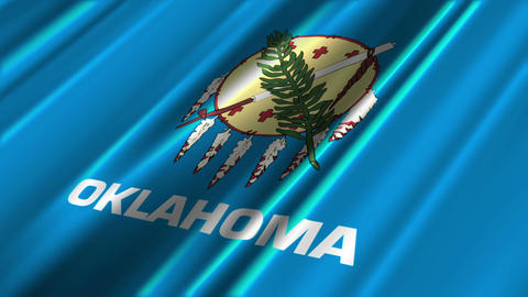Oklahoma Flag Loop 02 Animation