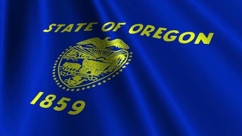 Oregon Flag Loop 03 Stock Video Footage