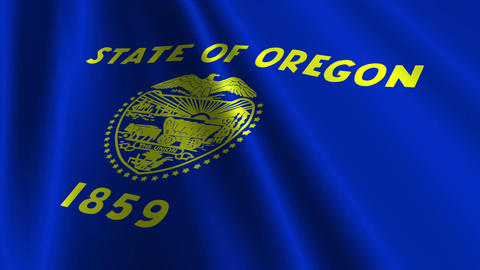 Oregon Flag Loop 03 Animation