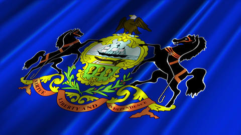 Pennsylvania Flag Loop 02 Stock Video Footage