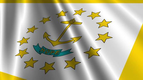 Rhode Island Flag Loop 03 Stock Video Footage