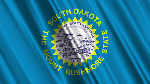 South Dakota Flag Loop 01 Animation