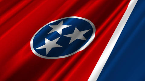 Tennessee Flag Loop 02 Stock Video Footage