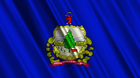 Vermont Flag Loop 01 Stock Video Footage
