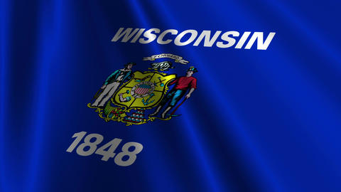 Wisconsin Flag Loop 03 Animation