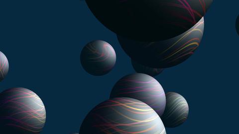 Flying full-spheres Stock Video Footage