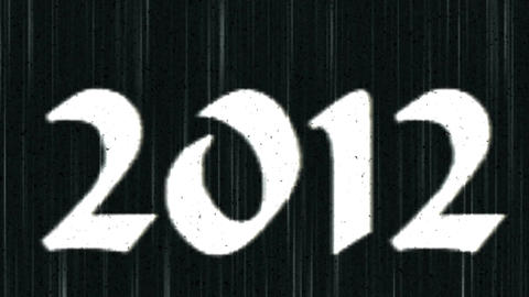 2012 Old Movie Stock Video Footage