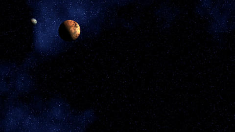 Two planets Stock Video Footage