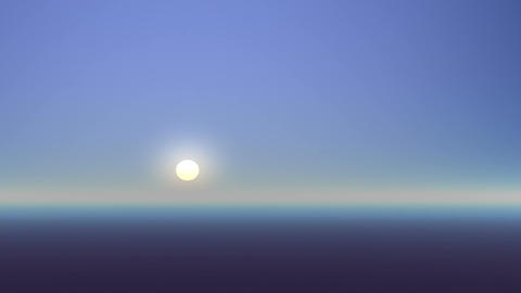 Rising on a foggy planet Animation