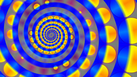 Full-spheres rotate on a spiral Stock Video Footage