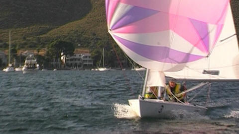 Sailing boat Stock Video Footage