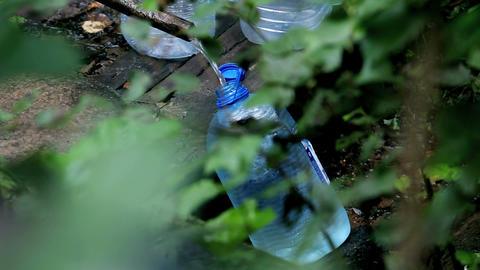 bottle of water Stock Video Footage