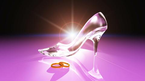 Cinderella shoes Stock Video Footage
