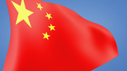 China flag close up Stock Video Footage