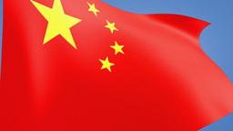 China flag close up Animation