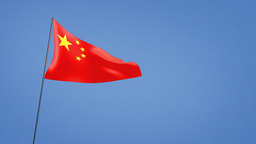 China flag wide Stock Video Footage