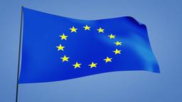 euro flag Stock Video Footage