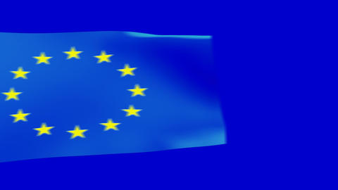 euro flags moving Stock Video Footage