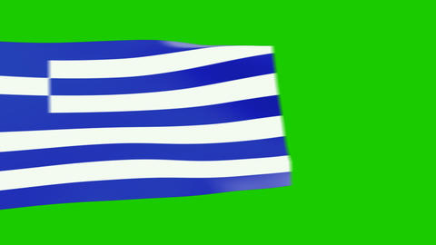 Greece flags moving Stock Video Footage