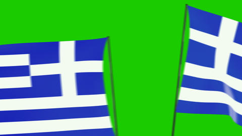 Greece flags moving Animation