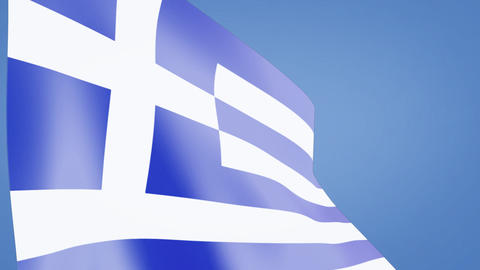 Greece flag closeup Stock Video Footage