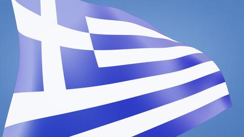 Greece flag closeup Stock Video Footage