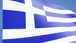 Greece flag closeup Animation