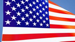 US flag close up Animation