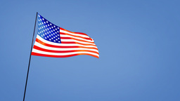 US flag wide Stock Video Footage
