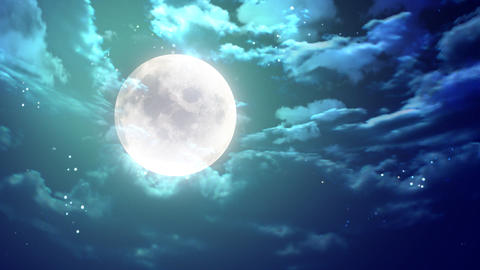 large moon nice night Stock Video Footage