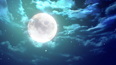 large moon nice night Animation