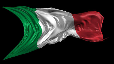 Flag Of Italy stock footage