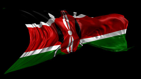 Flag Of Kenya stock footage