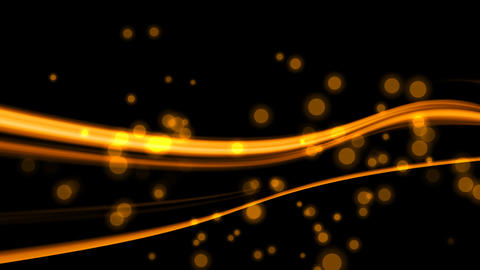 Orange Lines With Particles HD stock footage