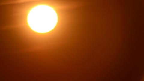 Sun fireball in the sky 01 Footage