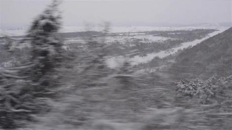 Regard on the train window 31 Footage