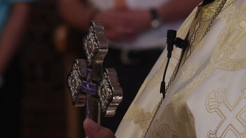 Priest officiating religious ceremony 03a Footage