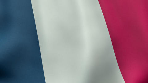 4K UltraHD Loopable waving French flag animation Animation