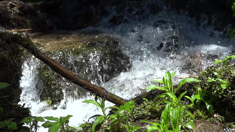 Mountain spring water 06 Footage