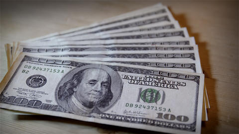 Close Up $100 Bills. 4K UHD stock footage
