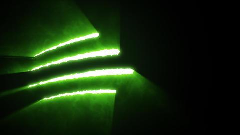 Claw Slashes Horizontal Green Animation
