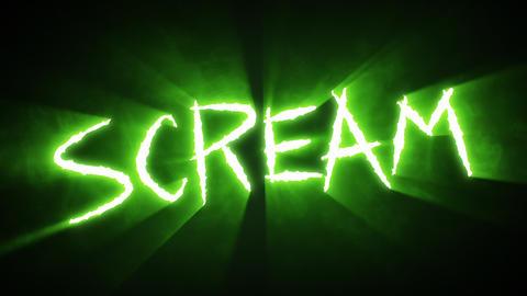 Claw Slashes Scream Green Animation