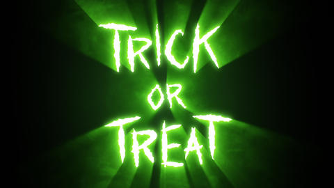 Claw Slashes Trick or Treat Green Animation