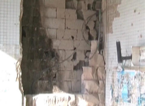 Gaddafi's destroyed residence Footage