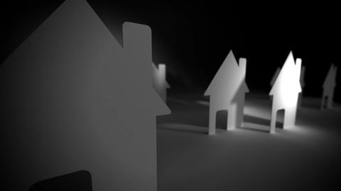 Paper houses. Concept Animation