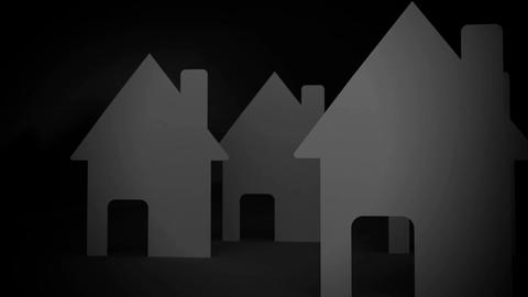 A lot of concept paper houses Animation