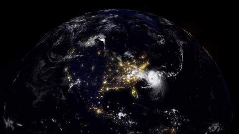 Hurricane Planet North Carolina / USA / East Coast Animation